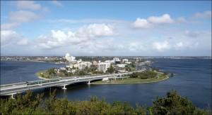 Kings Parks : vue du sud de Perth