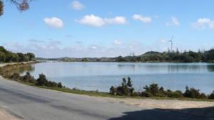 L'éolienne de l'île derrière le Garden Lake