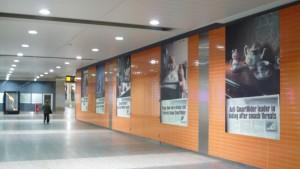 Les affiches de la gare centrale