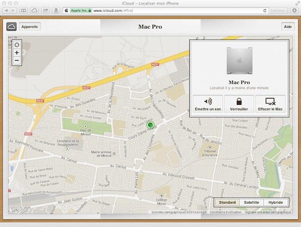 Les réglages iCloud sur le Mac